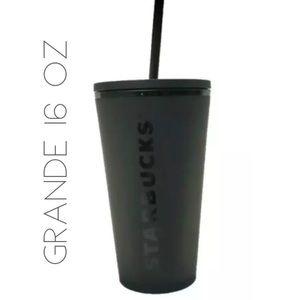 NWT Starbucks Halloween '19 black matte Grande cup